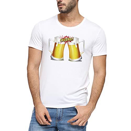 Staresen Camiseta de hombre Camiseta con blusa estampada Camiseta clásica Top del...