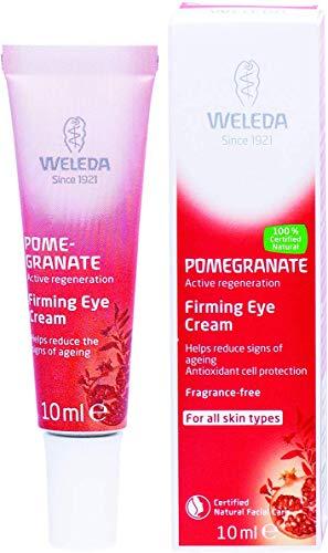 Feine Auge (WELEDA Granatapfel Straffende Augenpflege, Naturkosmetik Augencreme schützt vor Umwelteinflüssen, mindert Falten und strafft die feine Haut um die Augen für Männer und Frauen (1 x 10 ml))