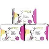 Vivanion Organic Cotton Sanitary Napkin Pad - 10 Count (Pack Of 3)