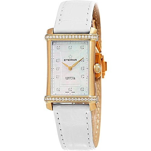 Eterna Women's White Alligator Leather Band Swiss Quartz Watch 2410-77-67-1224