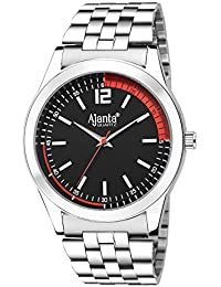 Ajanta Red & Black Dial Silver Belt Analog Watch For Men AQ-031-BR
