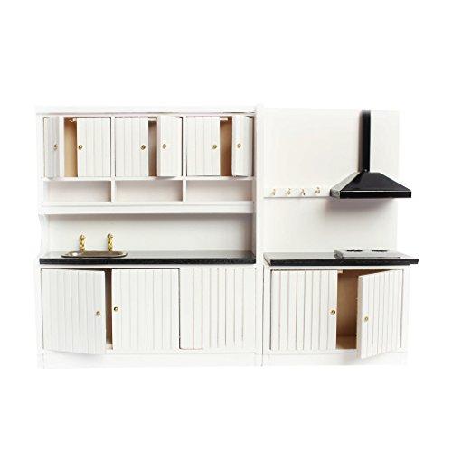Puppenhaus Zubehör Möbel aus Holz Puppenstube Puppenküche Herd Kabinett Set