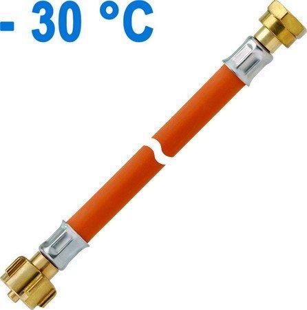 GOK Hochdruck-Schlauchleitung Gummi PS 30 bar für z. B. Truma Duo Control oder Duo Comfort, Schlauchlänge:KLF (G.12) x M 20 x 1.5 ÜM x 450 mm