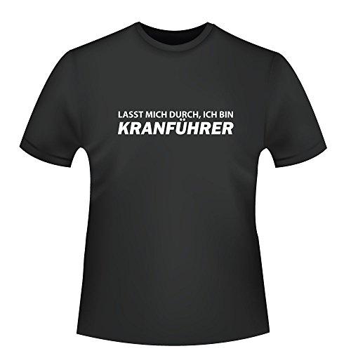 Lasst mich durch, ich bin Kranführer, Herren T-Shirt - Fairtrade - ID104193 Schwarz