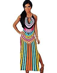 Good dress Une Robe, Jupe Multicolore Avec T - Shirt Imprimé D'Aération Latérale