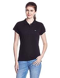 Park Avenue Woman Solid T-Shirt (PWKB00261-K8_Black_81)