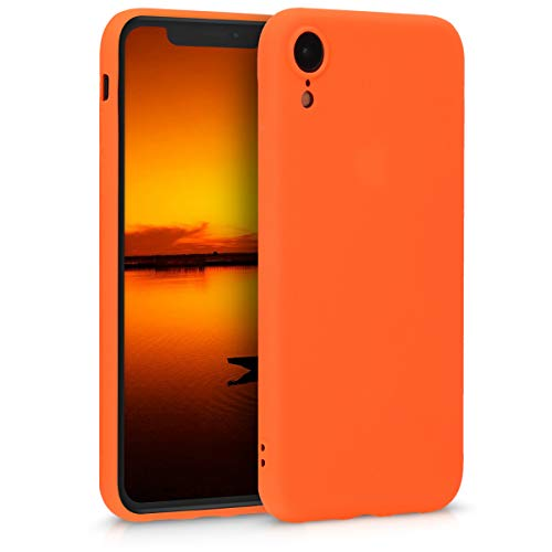 kwmobile Apple iPhone XR Hülle - Handyhülle für Apple iPhone XR - Handy Case in Neon Orange