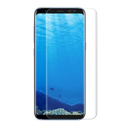 CXG Galaxy S8 Plus Protector de Pantalla,Samsung S8 Plus Cristal Templado Full Cobertura Curvados 3D Screen Protector Anti-Rasguños Film HD Vidrio Templado para Samsung Galaxy S8 Plus-Transparente