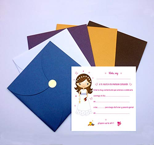 Invitaciones y Recordatorios de Comunión Niña - Originales - Sus ...
