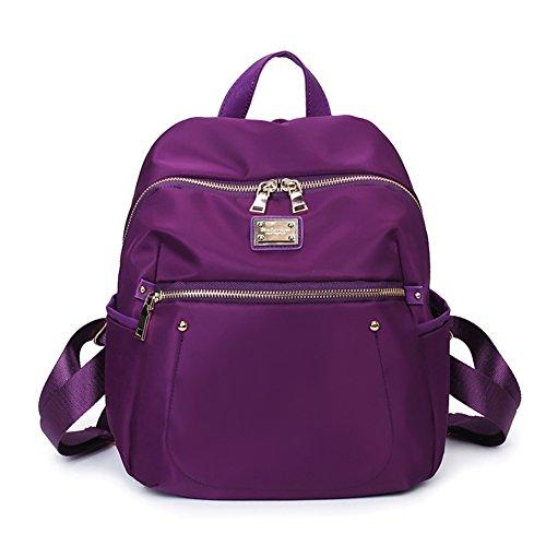 Ladies shoulder bags,borsa di tela,viaggio zaino-porpora porpora