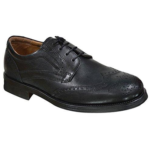 oaktrak pinham schwarz, braun oder castagnia Leder Brogues Oxford Works Herren Schuhe Schwarz Brogue 2