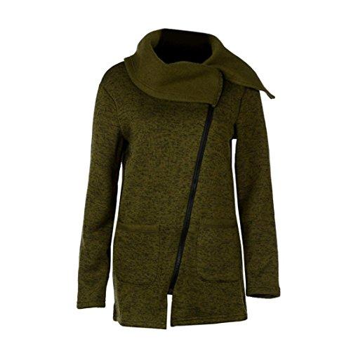 Pullover Damen Btruely Frau Hooded Sweatshirt Zipper Sweatshirt Jacke Mantel Winter Outwear (S, Armee (Stiefel Trachten Männer's Grün)