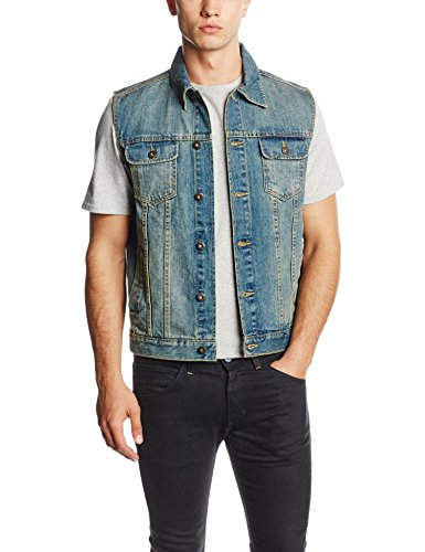 Urban Classics TB514 Herren Weste Denim Vest, Gr. Medium,...