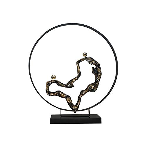 XiYunHan Einfache Moderne Abstrakte Dekoration Eisen Kunst Handwerk Wohnzimmer Persönlichkeit Kreative Eingang Vorlage Dekoration Hotel Metall Skulptur Teezeremonie Innen Weichen Kleid Probe Stehen