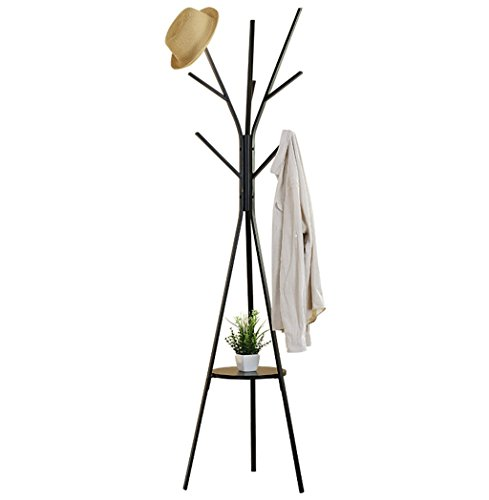 MOJ-YJ Moderne 6 Haken Tall Metal Coat Stand und Hut Display Hall Tree Hanger mit Schutz Anti-Tearing Caps Füße für Home Office Flur Living (Farbe : - Coat Tree