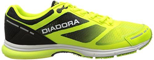 Diadora Mythos Racer Evo, Scarpe da Corsa Unisex – Adulto Giallo (Giallo Fluo/Nero (C4102)