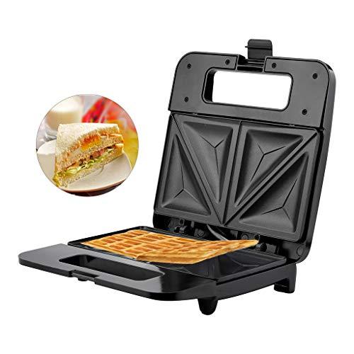 Finebuying Waffeleisen Elektrischer Antihaft-Waffeleisen, der maschinenförmige Waffeln herstellt Frühstücksmaschine für Paninis, Rösti, Keks-Pizzen (Schwarz, B)