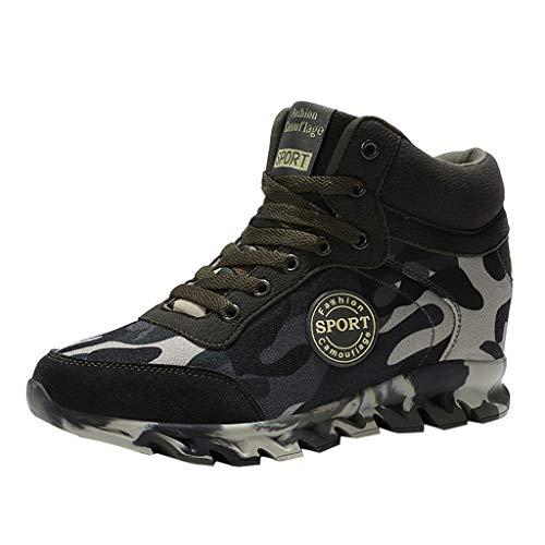 huhe Camouflage rutschfeste Sneaker Laufschuhe Dick-Sohlen Schnürschuhe Turnschuhe Lässige Laufschuhe ()