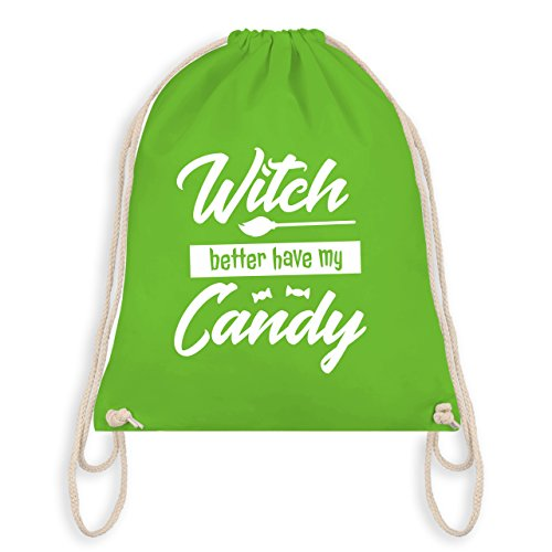 Halloween - Witch better have my candy - Turnbeutel I Gym Bag Hellgrün