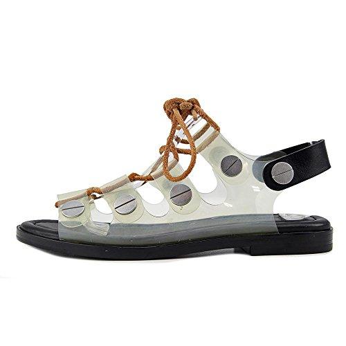 Alexander Wang Patricia Synthetik Gladiator Sandale Clear