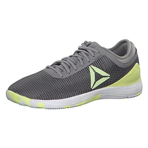 Reebok Herren R Crossfit Nano 8.0 Fitnessschuhe, Grau (Tin Grey Shark//Lemon Zest/Ash Grey/White Tin Grey Shark//Lemon Zest/Ash Grey/White), 45.5 EU (Lemon Shark)