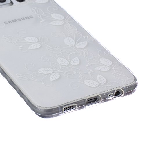 Ekakashop Coque pour Samsung Galaxy S6 Edge Plus, Ultra Slim-Fit Flexible Souple Housse Etui Back Case Cas en Silicone pour Galaxy S6 Edge Plus, Soft Cristal Clair TPU Gel imprimée Couverture Bumper d Morning Glory