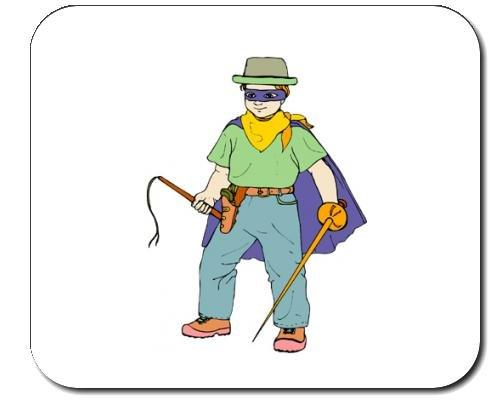 Mauspad mit der Grafik: Körper, Leute, Individuums, Personen, spielen, Menschen, Kind, Person, Einzelpersonen, Banditen, menschlich, Kostüm, Junge (Banditen Kostümen)