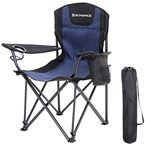SONGMICS Campingstuhl, Klappstuhl, bis 250 kg belastbar, Outdoor Stuhl