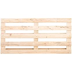 Decowood Cabecero Palet, Madera, Natural, 160x3x80 cm