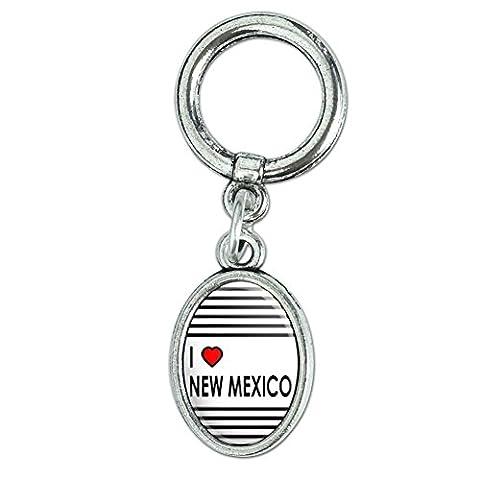 I love Herz New Mexiko Schuh Sneaker Schuhbändern Oval Charm