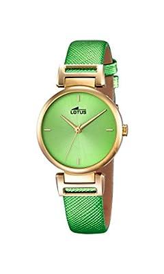 Lotus 18228/1 - Reloj de pulsera Mujer, Cuero, color Verde