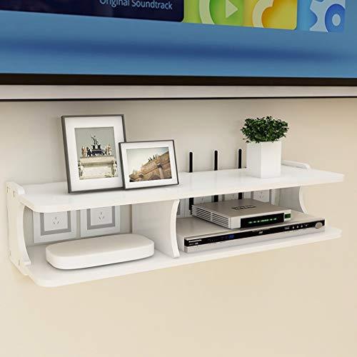 Meuble de télévision mural/étagère Console de télévision Meuble TV Routeur Décodeur Coffret de stockage multimédia Fond Mur Étagère décorative (taille : A)