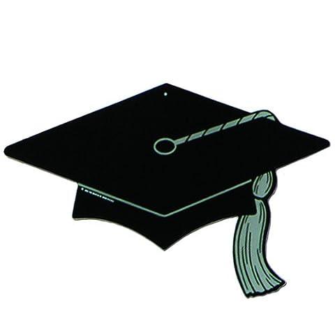 Beistle - 55237 - Black Graduate Cap Silhouette - Pack of 24
