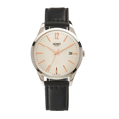 Henry London Unisex-Armbanduhr Highgate Analog Quarz Leder HL39 - S-0005
