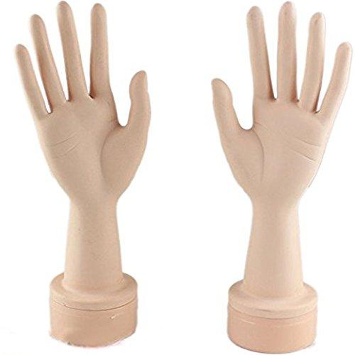 Eseewigs Manicura Manos Manos y Práctica Maniquíes Manos Manos Manos Manos con Manos Suaves (Un par de manos)