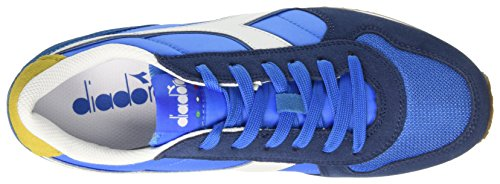 Diadora Herren K-Run II Sneaker Low Hals, Dark Blue/Ferrari Red Blau (Blu Micro/giallo Met/blu Estat)