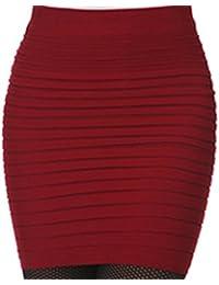 Encounter Femme Jupe Moulante courte taille haute plissée Package Hanche 4ee307ec1328