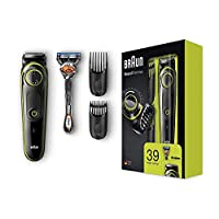Braun Beard Trimmer BT3041 with precision dial, 2 combs and Gillette Fusion5 ProGlide razor.