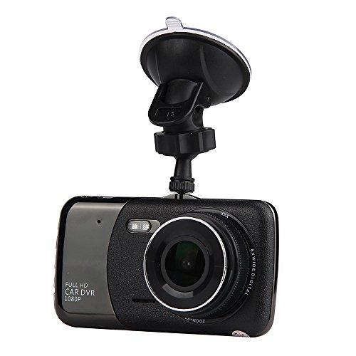 Altsommer Dual-Kamera Full HD1080P Autokamera mit WDR,170° Weitwinkelobjektiv,4,0 Zoll IPS HD-Bildschirm,Auto DVR Dashboard Camera mit Parkmonitor,Nachtsicht,32-GB-TF-Karte (Schwarz)