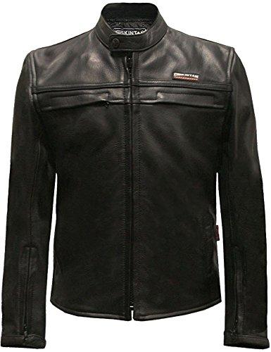 Skintan Kinder echtes Leder Jacke Schwarz 30 9 bis 10 Jahre alt