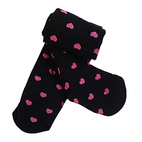 Kids girls warm leggings basic elasticizzato lunghezza intera danza elastico con piede collant opachi collant nero black medium