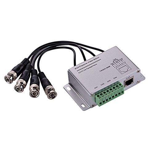 MagiDeal 4 Programm Sendeempfänger für Kamera DVR Video übertragung über UTP CAT6 Kabel Balun Sender