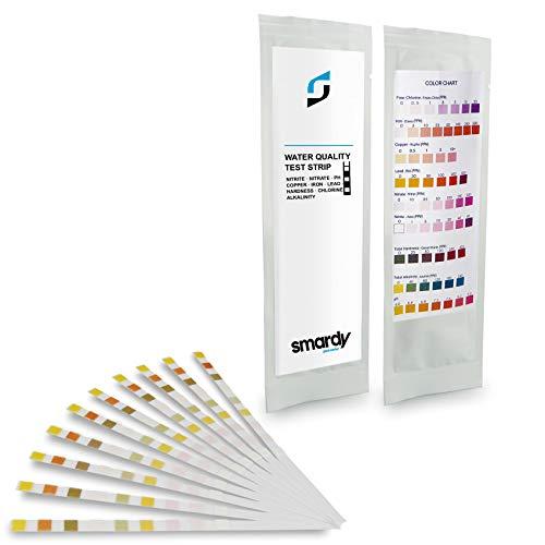 SMARDY® 10x 9 IN 1 Ultra Wassertest Set für Trinkwasser schnelltest - einfache Überprüfung der Wasserqualität -
