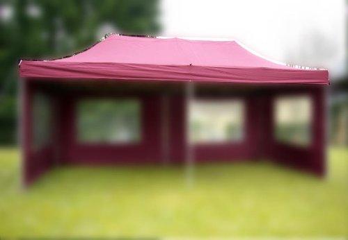 Nexos Pavillondach Ersatzdach Wechseldach für Profi Falt-Pavillon 3x6m - Dachplane 270g/m² PVC-Coating versiegelte Nähte wasserdicht - Farbe: Burgund