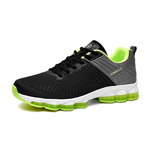 YAXUAN Hommes Herren Turnschuhe, Frühling Sommer Anti-Schock Basketball-Schuhe tragen Rutschfeste Bequeme Sportschuhe fliegen gewebt Stricken Schuhe (Farbe : EIN, Größe : 44)