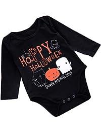 GZQ Mameluco Manga Larga para Recién Nacido Bebé, Ropa de Halloween para Recién Nacido,