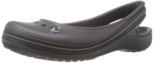 Crocs Genna II Gem GS Flat (Toddler/Little Kid/Big Kid), Black, 11 M US Little Kid Crocs Sling