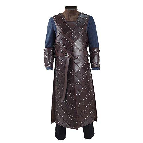CosDaddy ® Herren Brauen Blauen Mantel Cosplay Party Kostüme Mittelalterlich Retro Stil (L) (Jon Snow Kostüme)