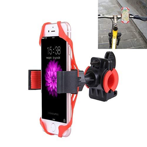 Lanbinxiang@ Adapté aux téléphones intelligents, Support de téléphone pour vélo Rotatif à 360 degrés avec Une Largeur de 5,8 à 8,7 cm, avec Pince de Tension élastique sécurité (Couleur : Rouge)