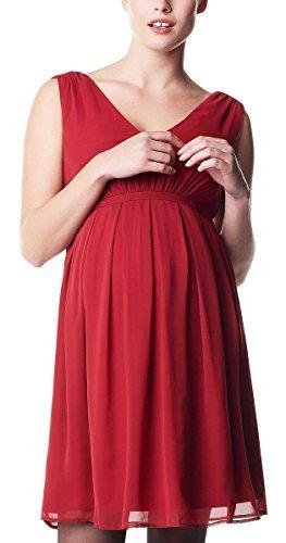 Noppies Damen Umstandsmode Kleid Dress woven ss Elise Hochzeitskleid 60239 (XL, creme (off white))